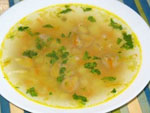 Суп с рисинками