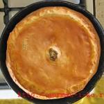 Пирог с капустой квашеной и мясным фаршем