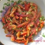 Салат с авокадо и болгарским перцем