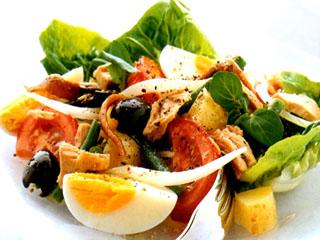 Салат из зеленой фасоли