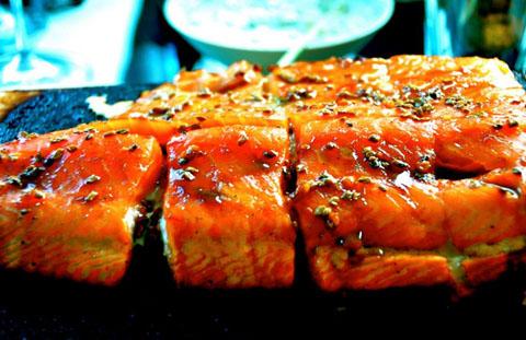 Романтический  рецепт для ужина. Поцелуй лосося.